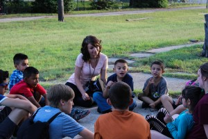 Summer Missionaries lead an outdoor Rainbow Express this past June